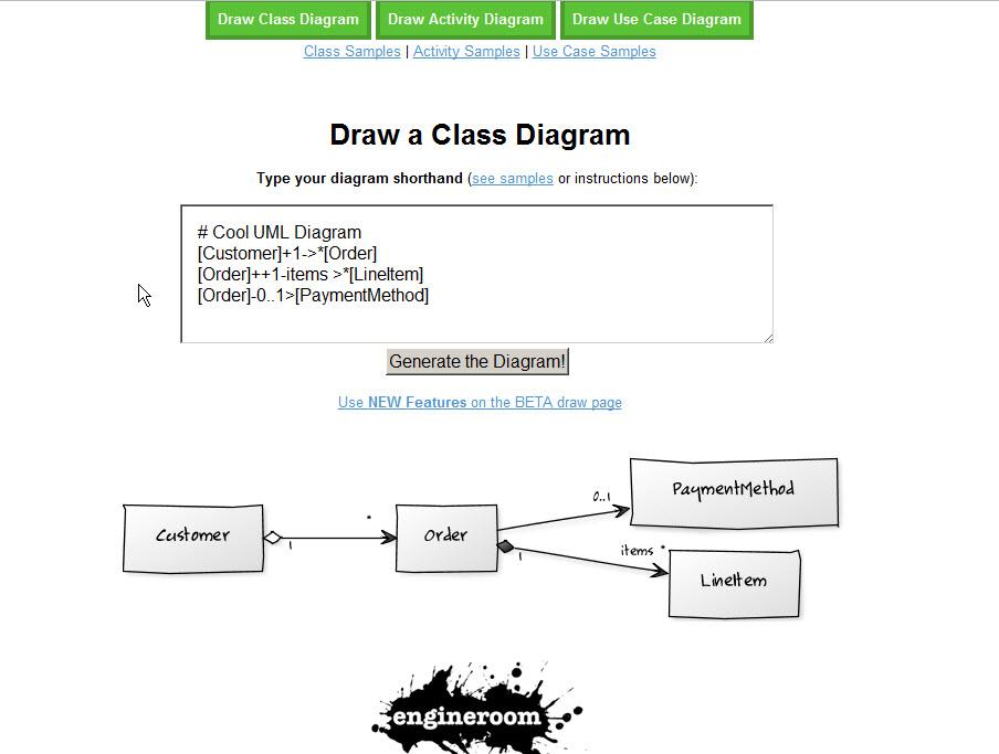 Генерация диаграммы