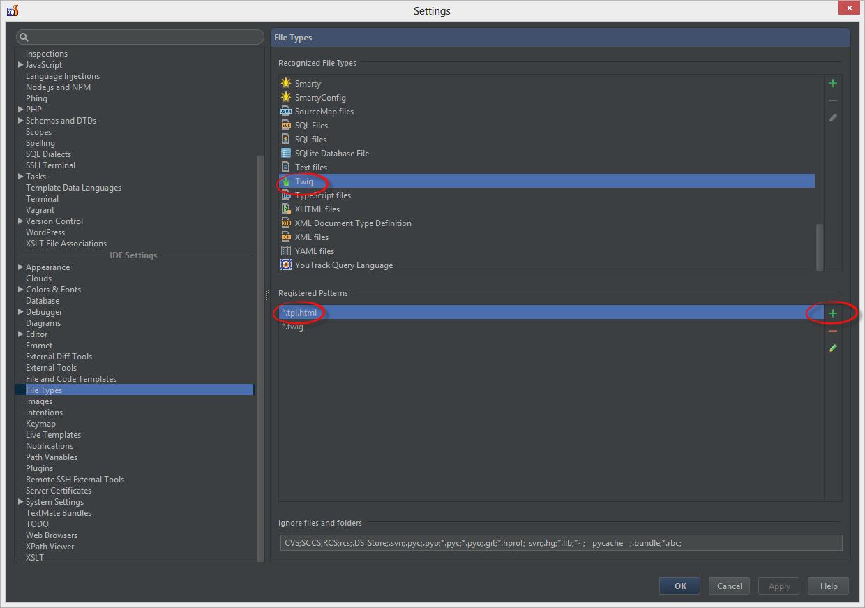 Свое расширение для файлов шаблонов Twig в phpStorm